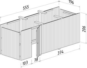 Bilde av Forlengelse/utvidelse for Carport Funky 40,6 m²